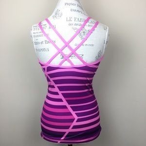 NikeFit | Dry Purple & Pink Workout Top S